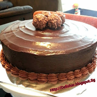 Chocolate Fudge Cake with Chocolate Ganache Frosting and Filling.