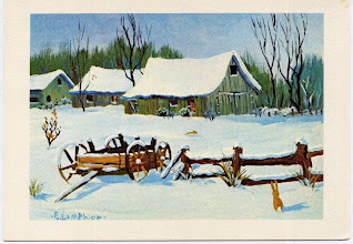 Photo: K8ABP Mr. Lamphier's gifted painting converted into a Christmas Card.