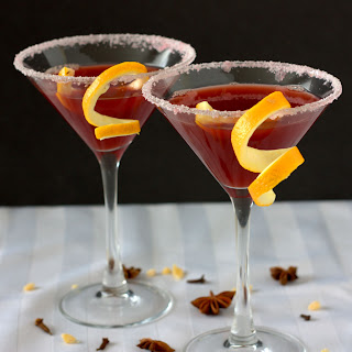 Mulled Pomegranate Martini.