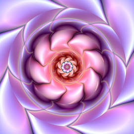 Flower design 3 by Cassy 67 - Illustration Abstract & Patterns ( purple, swirl, spiral, digital, love, digital art, twist, harmony, pink, fractal, flowers, fractals, flower )