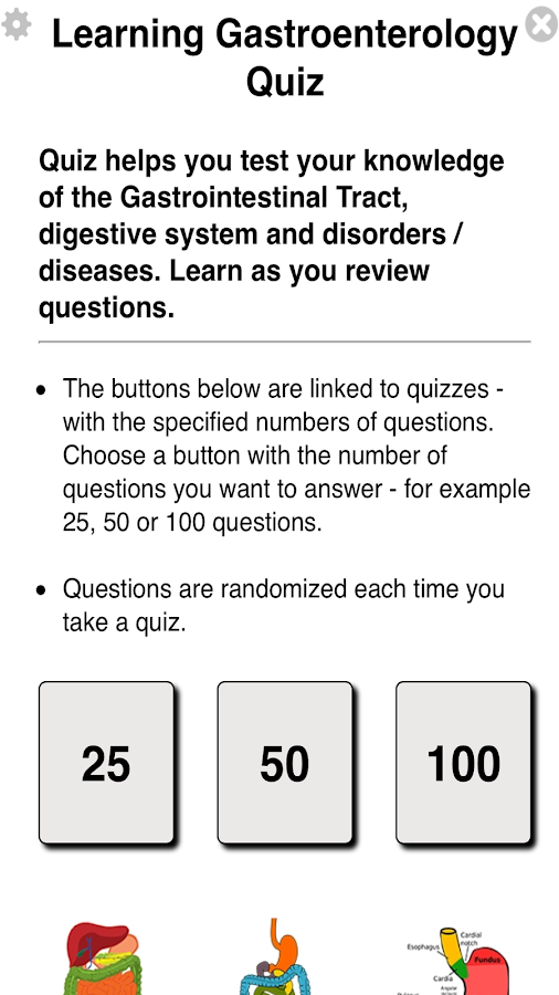 Learning Gastroenterology Quiz- screenshot