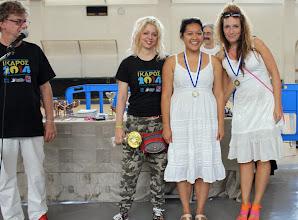 Photo: Ikaros 2014 - Top 3 female players (from left): G. Grapsa, S. Maroroa, M. Urosevic
