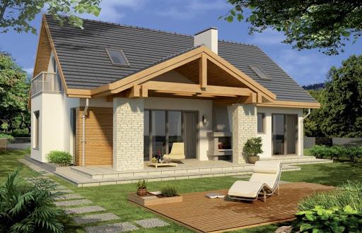 projekt Aston 2 wersja A pojedynczy garaż z boku
