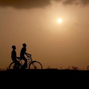 Good evening by Suman Rakshit - People Street & Candids