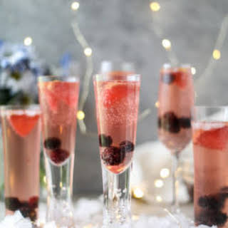 Blackberry Champagne Punch.