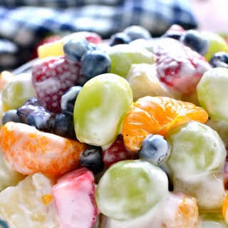 Skinny Ambrosia Fruit Salad.