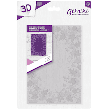 Crafters Companion Gemini 5x7 3D Embossing Folder - Ivy Frame
