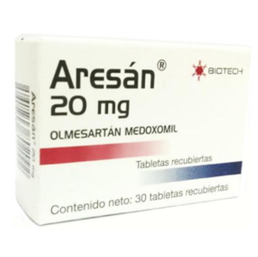 olmesartan aresan 20mg 30 tab biotech