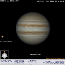 Photo: Jupiter with GRS Jr and Ganymede a day after previous shot in similar conditions.