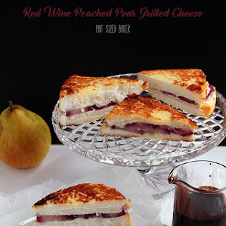 Wine Poached Pear Grilled Cheese