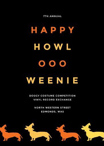 Happy Howl-Ooo-Weenie - Halloween Template