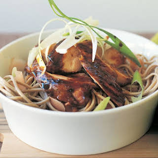 Soy Chicken With Pickled Ginger Soba Noodles.