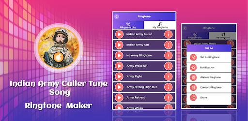 Indian Army Caller Tune Song-Ringtone Maker - Aplicacions a