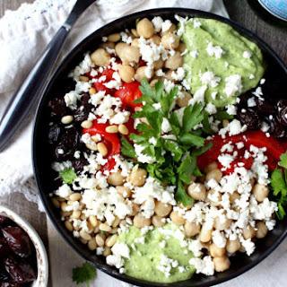 20-Minute Mediterranean Quinoa Bowls w/ Green Goddess Tahini.