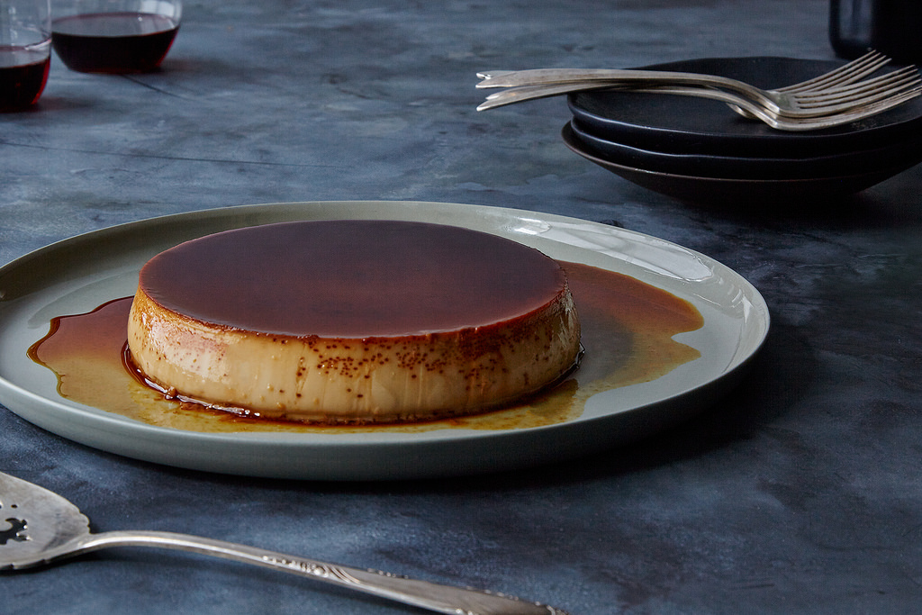Your flan needs a bath.
