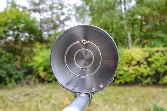 Photo: Proper mounting of ring-feed for HORIZONTAL polarization