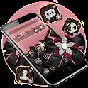 Rose Gold Diamond Black Bowknot Theme 🎀 icon