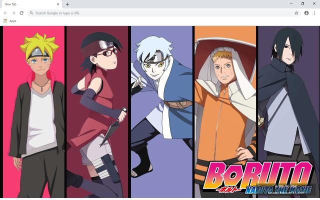 Boruto & Naruto New Tab