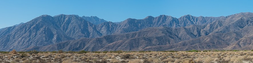 Photo: Toro Peak from Coyote Creek road, Anza Borrego SP