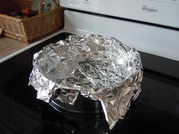 Make Sure The Tin Foil Over The Bottom Completely.