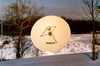 Photo: WX Satellite (GOES) receiving dish