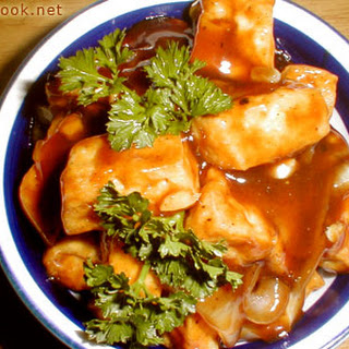 Tofu In Oyster Sauce.