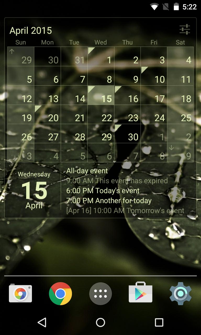 Calendar Widget Month + Agenda Screenshot 2