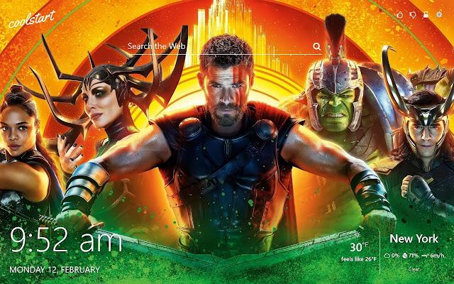 Thor Ragnarok HD Wallpapers New Tab Theme