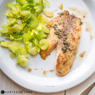 Brown Butter Tilapia with Celery Salad