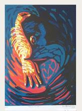 """Photo: Bruno Steinbach. """"Abraço no meu amor!"""" . Serigrafia/papel cançon, 58,5x40 cm, 2004, João Pessoa, Paraíba, Brasil.( Edição:50 cópias)."""