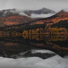 Cloudy Reflections by Patricia Phillips - Landscapes Travel ( alaska lakes clouds reflections )