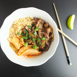Korean-braised Short Rib Bowls With Kimchi