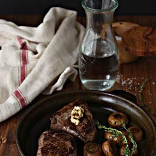 Steak with Herb Sautéed Mushrooms