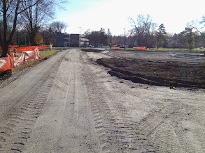 Photo: Path and drop off area along entrance 11-19-2013