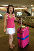 Photo: Jules and her famous pink suitcase! http://ow.ly/caYpY