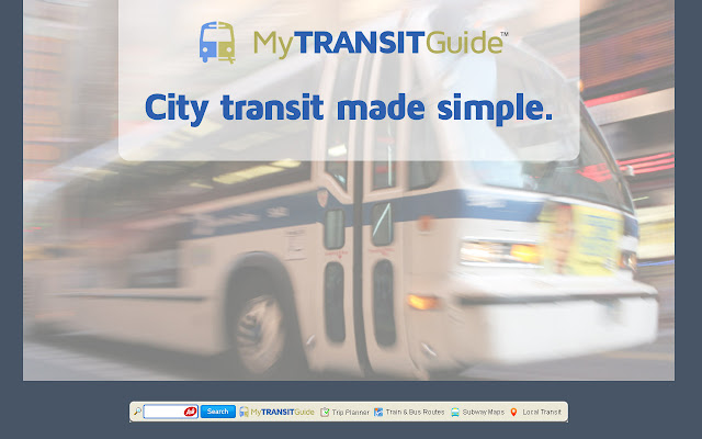 MyTransitGuide chrome extension