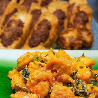 Golden Salted Egg Pumpkin Prawns