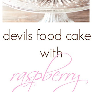 devils food cake with raspberry buttercream frosting ~ from King Arthur Sift