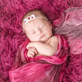 by Monika Wierzbicka - Babies & Children Babies ( girl, pink, baby, newborn )