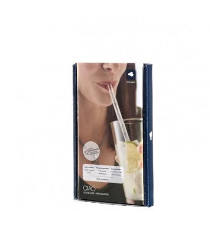 CIAO Sugrör Glas 20cm 12-pack