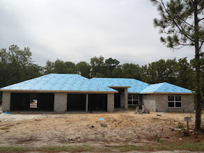 Photo: September 20, 2012 Roof's ready for shingles. Photo by Lake Weir Living