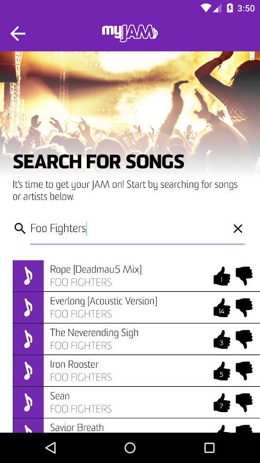 myJAM - Social Music Jukebox- screenshot