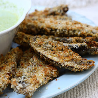 Portobello Fries with Basil Aioli