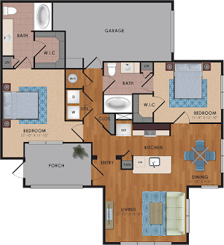 Go to Garner Floorplan page.