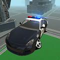 Futuristic Flying Police Car
