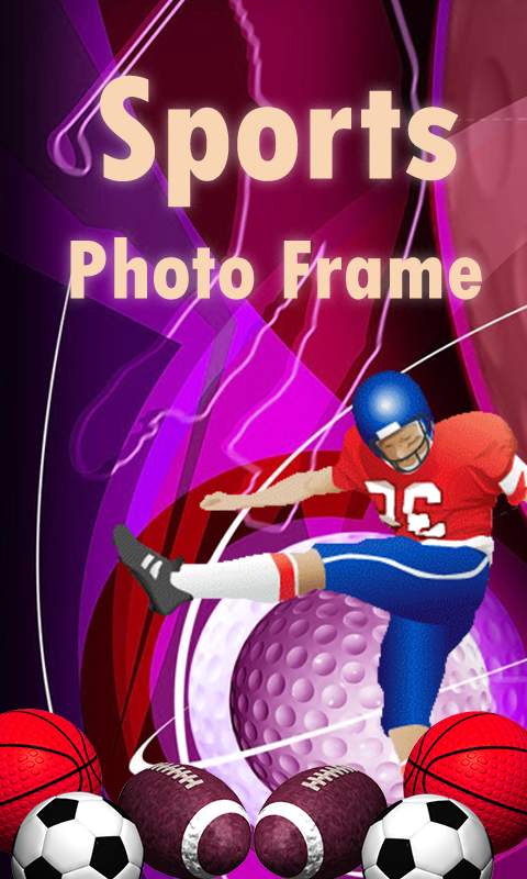 sports photo frames screenshot