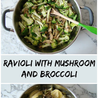 Ravioli with Mushroom and Broccoli