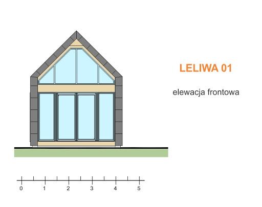 Leliwa 01 - Elewacja przednia