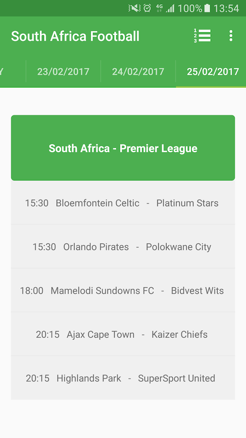 South African Premier Division - Android Apps on Google Play