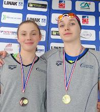 Photo: Podium Jeunes : Lora Méchin et Mila Lucas